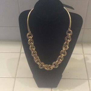 NWT J. Crew gold chain necklace w dust bag